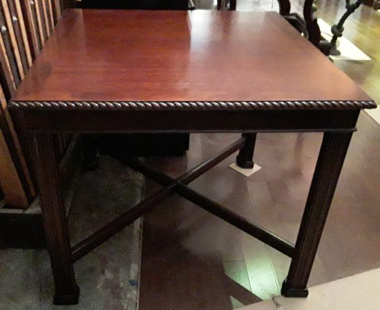 Inlaid Table With Rope Edge